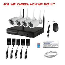 Wireless 720P NVR Kit CCTV System Security Camera 4CH  8CH  Outdoor/Indoor 1.0MP ip camera wi-fi LEDs Video Push 3G Wifi P2P 1TB