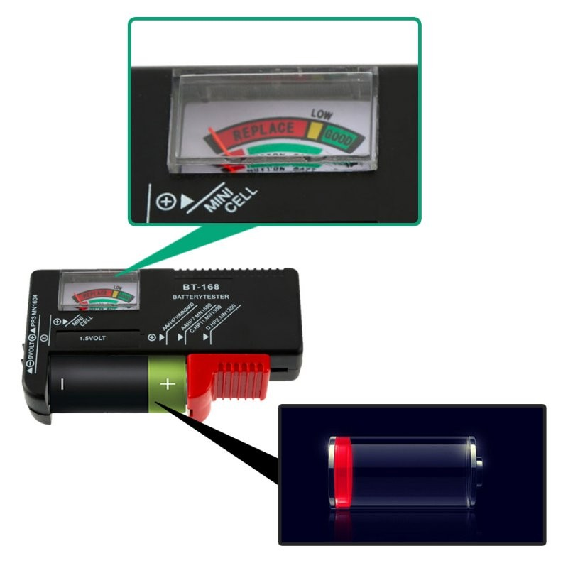 Display Universal Button Cell Battery Colour Coded Meter Indicate Volt Tester Checker AA/AAA/C/D/AG/9V/1.5V
