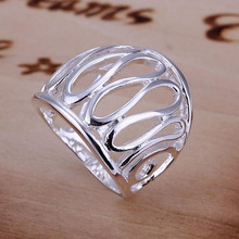 925 Sterling Silver Ring Fine Fashion Thumb Hollow Ring Women&Men Gift Jewelry Finger Rings