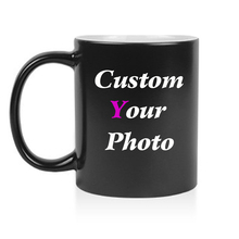 Free shipping Personalised Custom Heat Color Changing Magic coffee Mug ceramic tea cup with your Photo Text  logo