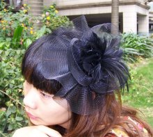 Free Shipping party fascinator black h086 dances,races,weddings,Party HAT