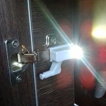 High Quality 0.25W Kitchen Bedroom Living Room Cabinet Cupboard Closet Wardrobe Hinge LED Light DIY Night Lamp Mini Style(China)