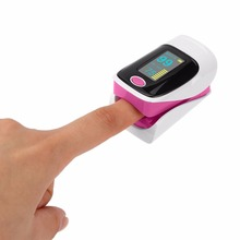 Portable Finger Tip Pulse Oximeter Double Color OLED Display Modes Blood Oxygen Saturation Monitor Lanyard Health Care New