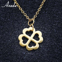 Four Leaf Clover Necklace Classics Gold Color Lucky Trendy Jewelry High Quality Necklaces Bijoux Pendant For Mother Gifts