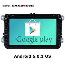 SMARTECH 2 din Android 6.0.1 Car DVD Player GPS navigation for VW passat b6 golf 5 polo jetta Skoda autoradio Support CAN-BUS