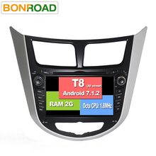 "7"" Eight Core 1024*600 Android 7.1 Car DVD GPS Player For Solaris Verna Accent Car PC Headunit Car Radio Video Player Navigation"