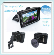 "Universal 4.3"" waterproof motorcycle gps navigation 8G flash+High Light Screen+Bluetooth,Vehicle motor bike GPS Guidance System"