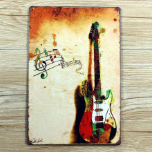 UA-0027 about guitar metal Tin signs metal painting home decor bar Vintage plate wall art craft  decoration 20X30 CM