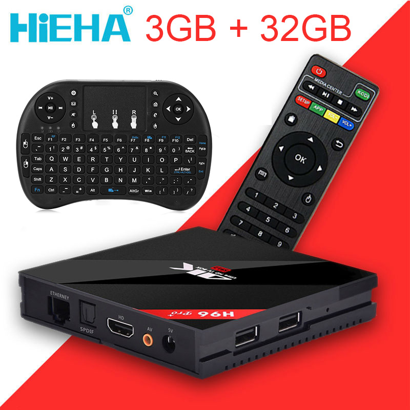 3G/32G H96 Pro Plus Android Tv Box Amlogic S912 Octa Core Android 7.1 TV Box 2.4G/5.8G WiFi H.265 BT4.1 H.265 4K Media Player(China (Mainland))