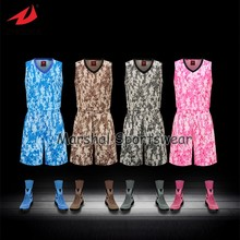 2016 Latest sublimation customized basketball jersey,accept small quantity,top quality camouflage style(China)