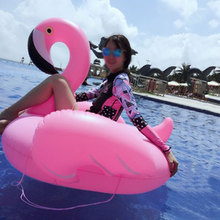 Air Inflatable Flamingo Pool Float Circle Mattress Swimming Float Inflatable Pool Ring Toys for Adult para piscina Summer Toy(China)
