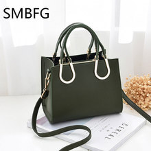 Women Leather Handbag Crossbody Vintage Red Green Casual Tote Shoulder Bags New Arrival(China)