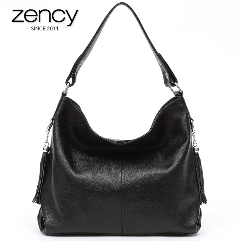 Free Shipping Fast Sending 100% Two Tassels genuine cowhide leather handbag womens shoulder ladies messenger bag purse satchel<br><br>Aliexpress