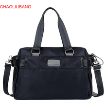 New Arrival Waterproof Nylon Women Handbags Large Capacity Men's Shouder Messenger Bags High Quality Designer Simple Tote Bags(China)