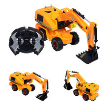 Remote Control Scale Digger Excavator Construction Truck Engineering RC Radio Control Electric Toy Fun Movable Shovel