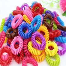 beautiful candy-colored hair rope wholesale telephone wire  Hair Accessories women Rubber bands Hair Gum 5pcs/lot
