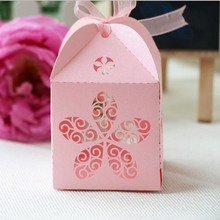 50pcs/lot Free shipping Wholesale party decoration supply Wedding Candy Box Laser Cut Wedding Favor Boxes Gifts candy gift box(China)