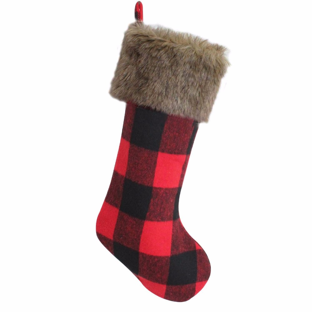 Buy fur christmas stocking and get free shipping on AliExpress.com