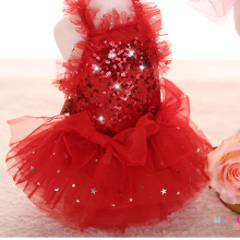 Small Dog Clothes Wedding Dress Pet Clothes For Chihuahua Yorkies Teddy Cat Skirt Summer Dresses Sequins Princess Costume(China)