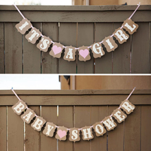 1 Set Cute Paperboard Baby Shower Banner Garlands Its A Boy Girl Bunting Birthday Party Home Decoration 3 Meters(China)