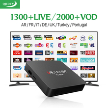 Smart IPTV Box S905X Android 6.0 TV Box with HD IPTV Subscritpion 1 year QHDTV accout iptv Europe Arabic Italy UK Media Player
