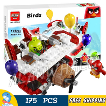 175pcs The Birds Movie Game Piggy Plane Attack 10506 Building Blocks Model Games Bricks Kids Toy Kits Compatible With Lego