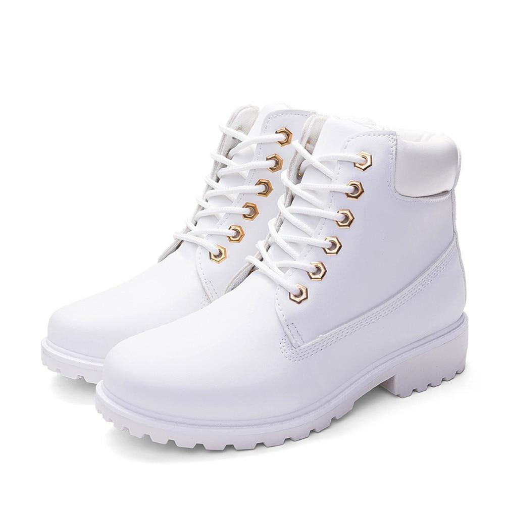 Szyadeou Women Ladies Round Toe Lace-up Faux Boots Ankle Casual Martin Shoes botas mujer invierno kozaki damskie schoenen 30 14