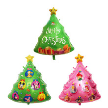 Christmas Tree Balloon Helium Inflatable Foil Balloon Christmas Party Decoration Air Balloons Santa & Snow Man & Merry Christmas