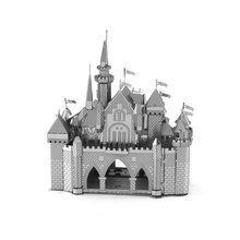 DIY Sleeping Beauty Castle Architecture 3D Metal Building Model Kits Puzzle Nano Adult Jigsaw Educational Toys For Children