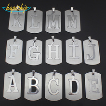Hapiship Women/Men's Jewelry Stainless Steel Couple Letter A B C D E F G H I J K L M N Pendant Short Necklace SS0000  Xmas Gift