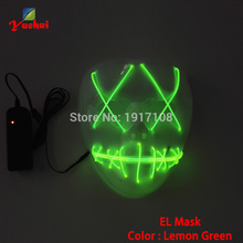 2017 NEW Design EL wire Halloween Mask LED Movie Cartoon Mask Flashing Festival Neon Glowing dance Carnival Party Mask Supplies(China)