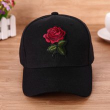 Women Baseball Cap Flower Embroidery Fashion Snapback Hat Hip Hop Cap Size Adjustable Baseball Cap Solid Color Hip Hop Hat New
