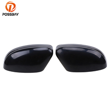 POSSBAY ABS Side Rearview Mirror Cover Trim Door Rearview Mirror Frame Car-styling Fit for Ford Focus Turnier (DYB) 2010-2014(China)