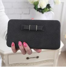 Fashion Women Bow Purse Wallet Female Famous Brand Card Holders Cellphone Pocket Gifts For Women Money Bag Clutch