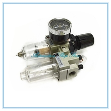 "1/4""PT SMC manual drain type compressing air filter pneumatic gas source AC2010-02 Oil water separator"