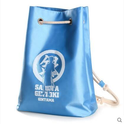 Free shipping GINTAMA Top Anime Japanese casual backpack Drawstring beam port Cartoo Sakata Gintoki school bag Shoulders bags <br>