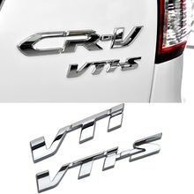 Car Styling 3D VTI VTIS Letter Full Metal Zinc Alloy Refitting Emblem Fender/Tail Badge Sticker for Honda CRV CIVIC