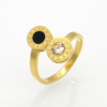 BORASI 2017 New Brand Delicate Zircon Roman Numerals Pattern Alliances Rings Best Gift For Women Manual Mosaic Love Ring(China)