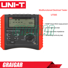 UNI-T UT595 Multifunction Loop Testers Earth Ground Line Loop Impedance Tester Insulation Resistance Meter w/RCD Protection(China)
