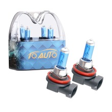 1 pair 55w 12v  h11 hid halogen bulb kits 6000k super bright white car fog lights bulb lamp quartz glass tube