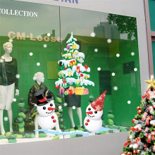 Oujing Merry Christmas Xmas PVC Removable Display Window Showcase Decor Wall Stickers*natal navidad christmas*23 2017 hot sale