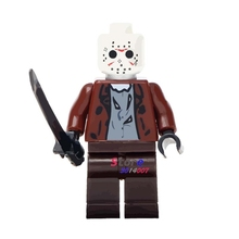 Single star wars Halloween The Horror Theme Movie Jason Hockey Mask Guy building blocks models bricks toys for children kits