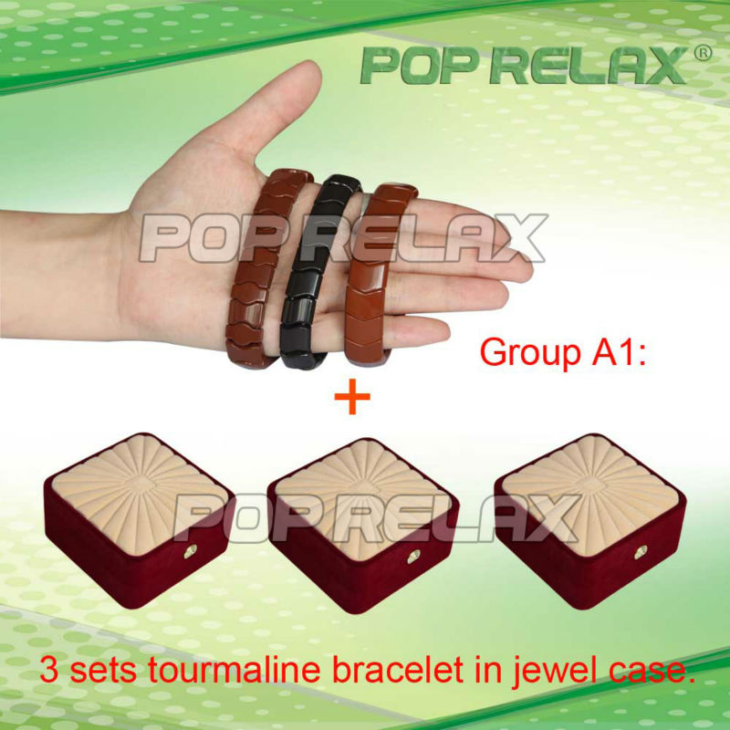 Free Shipping! 3sets Tourmaline health bracelet from POP RELAX Group A1<br><br>Aliexpress