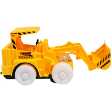 Omni Direction Toy Excavator Bulldozer Shinning Lighting Wheel Front Toy Truck Removable Digging Bucket Vehicle Toys(China)
