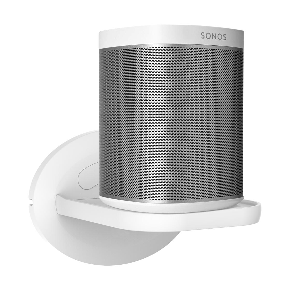 Kcnsieou Soporte de pared de metal firme y estable para Sonos Play1 soporte de pared de escritorio con carga de 6 kg