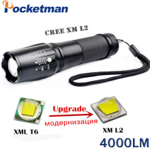 4000 Lumens High Power Led Torch CREE XML-L2 5 Modes LED Flashlight Waterproof Zoomable Torch Lights Lampe Torche Linterna Led