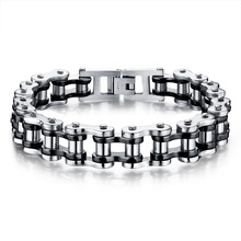 LASPERAL Punk Rock Male Bracelet Biker Bicycle Bracelets With Motorcycle Link Chains Cool Bangles Stainless Steel Men Jewelry