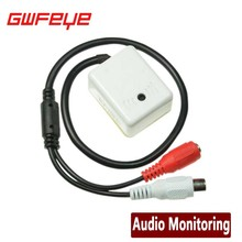 GWFEYE MINI AUDIO CCTV MICROPHONE MIC FOR SECURITY DVR CAMERAS