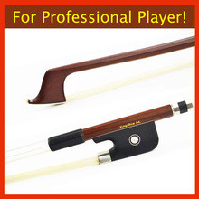 310C 4/4 Full Size CELLO BOW Brazilwood Stick Ebony Frog Nickel Silver Fitted Natural White Horsehair Violin Parts Accessories