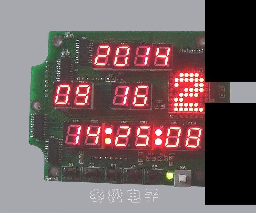 Multi function digital tube 14 LED dot matrix electronic clock diy kit soldering kit electric <br>